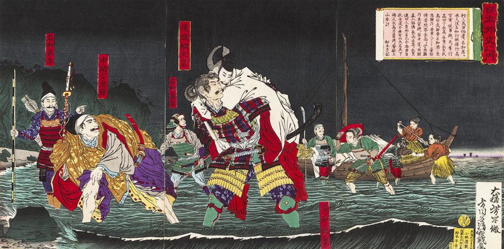 КІЙОТІКА Кобаясі (1847 – 1915) - Клан Нава допомагає імператорові Ґо-Дайґо повернутися із заслання. 1879