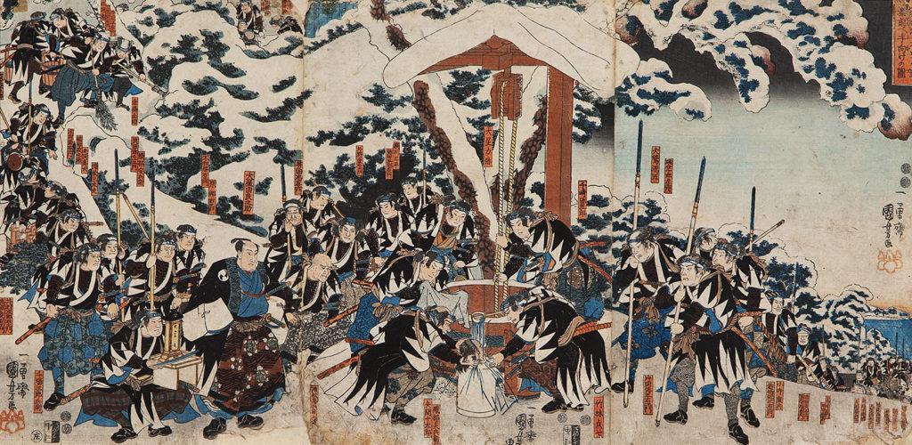 КУНІЙОСІ Утаґава (1797 – 1861) – Помста Ако або 47 ронінів