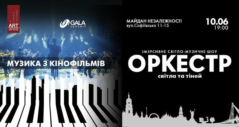 Оркестрове шоу Cinematic Symphony – саундтреки з відео-артом